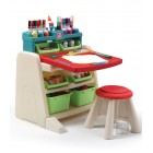 Step2: Flip & Doodle Easel Desk with Stool - Lime