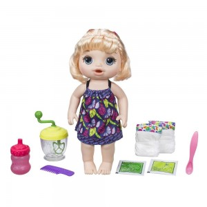 Hasbro: Baby Alive Sweet Spoonfuls Baby Doll Girl - Blonde Straight Hair